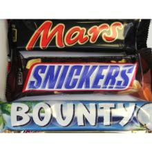 BOUNTY - SNICKERS - MARS - TWIX CHOCOLATES