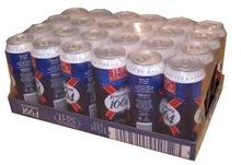 Kronenbourg 1664 blanc beer in blue 25cl and 33cl bottles and 500cl Cans..