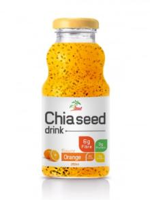 250ml Chia Seed Drink Orange Flavor