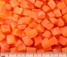 Frozen carrot cube