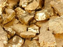 Natural Gold in Dust Form and Bar for Gold.