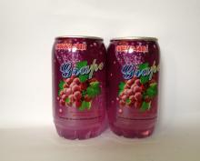 Grape flavored Carbonated Drink in 340ml transparent PET CAN