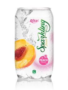 Sparkling Peach flavor Juice 350ml PET Can
