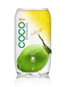 350ml PET Can Sparking Coconut Water Mango Flavor