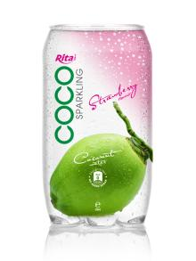 350ml PET Can Sparking Coconut Water Strawberry Flavor