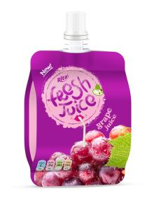 Spout grape juice pouch bag 100ml