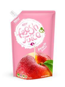 1000ml pouch bag spout peach fruit juice drinks