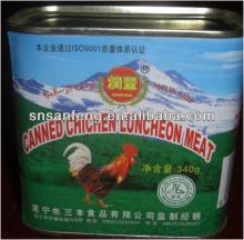 lithographed square chicken luncheon meat