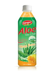 wholesale Aloe vera juice drink with Mango flavour PET Bottle