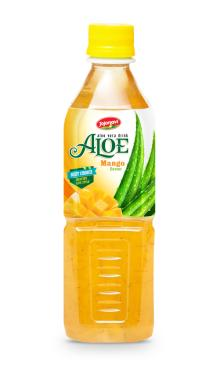 Fruit juices Aloe vera products export Aloe vera drink with Mango flavour in PET Bottle 500ml