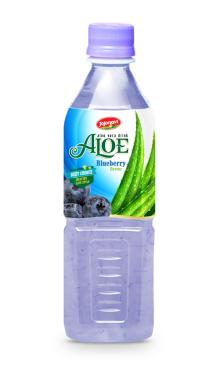 Fruit juices Aloe vera products export Aloe vera drink with Blueberry flavour in PET Bottle 500ml