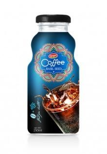 Glass Bottle Vietnam Coffee With Fruit Juice Basil Seed