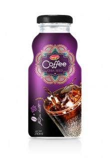 Glass Bottle Vietnam Coffee With Fruit Juice Chia Seed