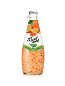 Fruit Juice Basil Seed Drink Orange Flavour In Glass
