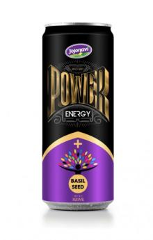 Aluminium Energy Drink Power Energy Drink With Basil Seed Flavour