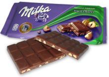 Milka 100g Milk, Milkinis, White, Hazelnuts, Raisins, Oreo 176g, Caramel