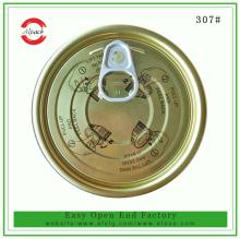 Hot sale 300 tinplate easy open end for canned  tuna  fish packaging supplier