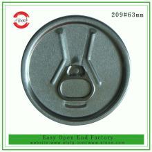 209#RPT aluminum beverage easy open can 63mm easy open lid