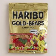 HARIBO Golden Bear Gummy Candies 200gr Bag