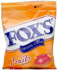 Fox's Nestle Crystal Clear Candies in Bags 125gr :Fruits, Berry and Passion Mint