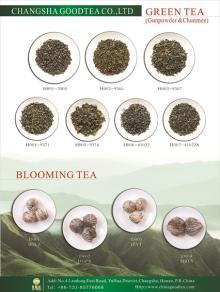 Handmade flowered blooming tea