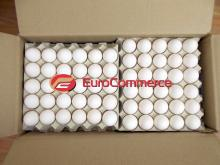Fresh eggs / White chicken eggs / Ukraine eggs