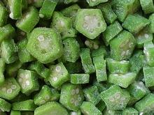 IQF Frozen Okra Cut
