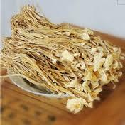 Dry golden needle mushrooms