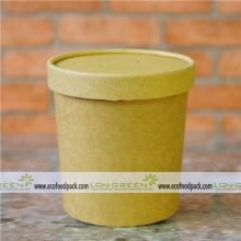 kraft soup cup container with lid