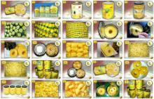 Canned pineapples slices and pieces