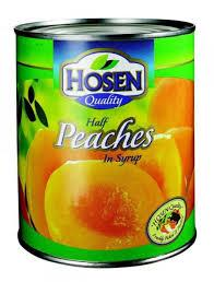 Canned yellow peaches halve peaches and whole peaches