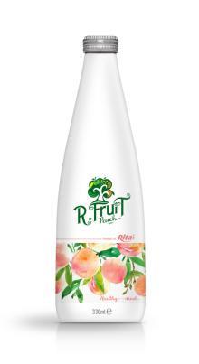 330ml Glass bottle Peach Juice