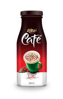 280ml Glass bottle Latte Coffee Drink
