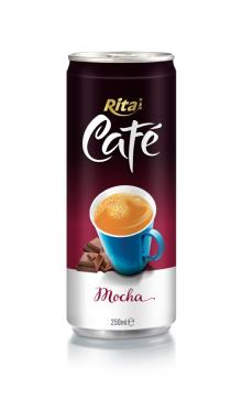 250ml aluminum can Mocha Coffee drink