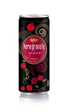 250ml aluminum can Pomegranate juice drink