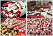 Kinder Joy, Nutella, Snickers, Mars, Kitkat, kinder suprise