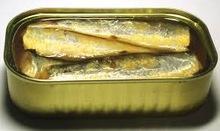 Canned oil sardine fish.