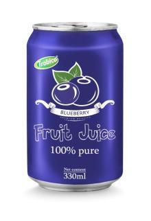 330ml aluminum can Blueberry juice