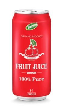 500ml aluminum can Cherry juice