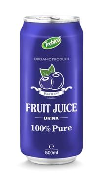 500ml aluminum can Blueberry juice