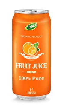 500ml aluminum can Orange juice