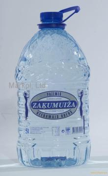 mineral water 5 L, PET bottle