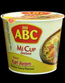 Cup ABC instant noodle