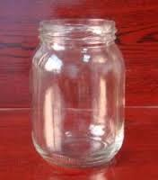 875ml round glass jar