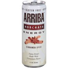 Arriba Energy Drink, Horchata, Cinnamon Spice - 11 fl oz can