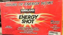 Kirkland Signature Energy Shot Dietary Supplement, Variety Pack - 48 count, 2 fl oz bottles