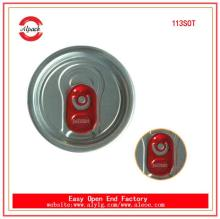 113#SOT aluminum easy open end for beverage can packaging