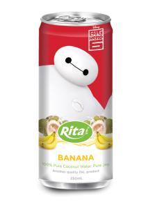 250ml Slim can Banana Flavored Coconut Water