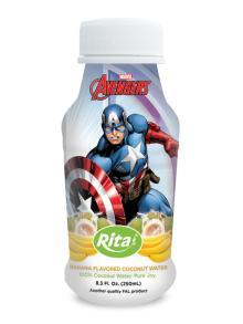 250ml PP bottle Banana Flavored Coconut water