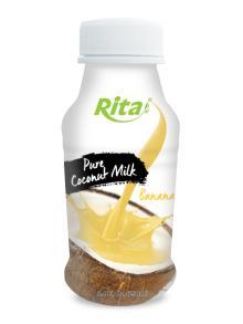 250ml PP bottle Coconut Milk with Banana
